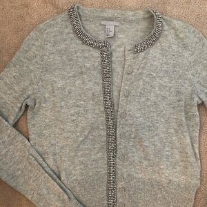 H&M Grey Sweater with Silver Beads